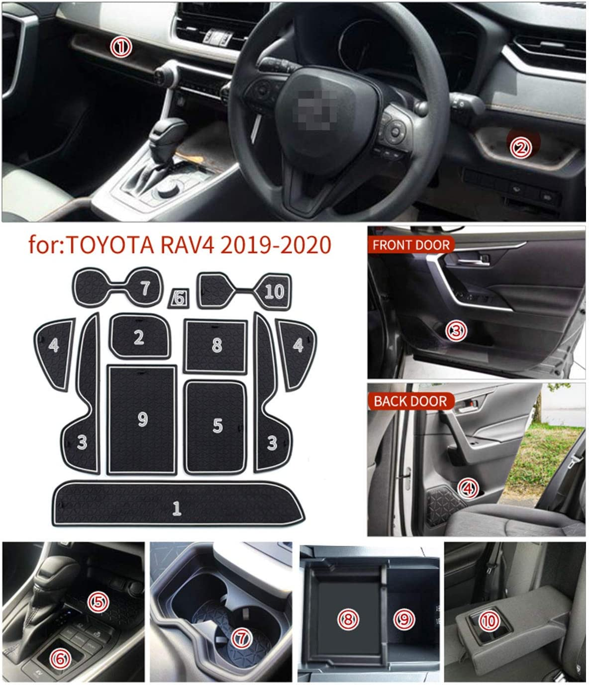Carsio Black Rubber Tailored Car Floor Mats To fit BMW Z4 E89 Convertible 2010 to 2016 3mm 2pc Set