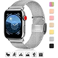 AK kompatibel mit Apple Watch Armband 38mm 40mm 42mm 44mm, Metall Edelstahl Ersatzarmband kompatibel mit iWatch Series 5/4/3/2/1