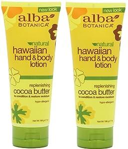 Alba Botanica Alba botanica hawaiian hand & body lotion, cocoa butter, 7 ounce (pack of 2)