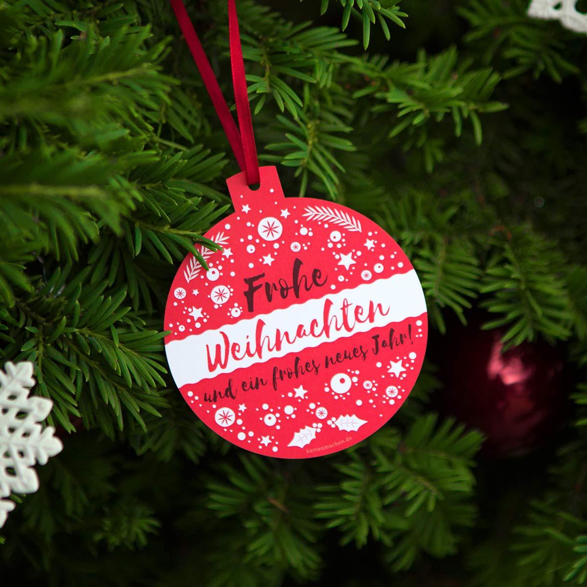 40 x Lasergeschnittene Firmen Weihnachtskarten Grußkarten individuell Weihnachten - Weihnachtskugel Weihnachtskugel Weihnachtskugel Schlicht Rot B07KYM3MRP   Spielzeug mit kindlichen Herzen herstellen    New Products    Meistverkaufte weltweit  059204