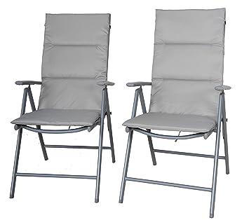 Chicreat juego de 2 sillas plegables con tapicería, silla de ...