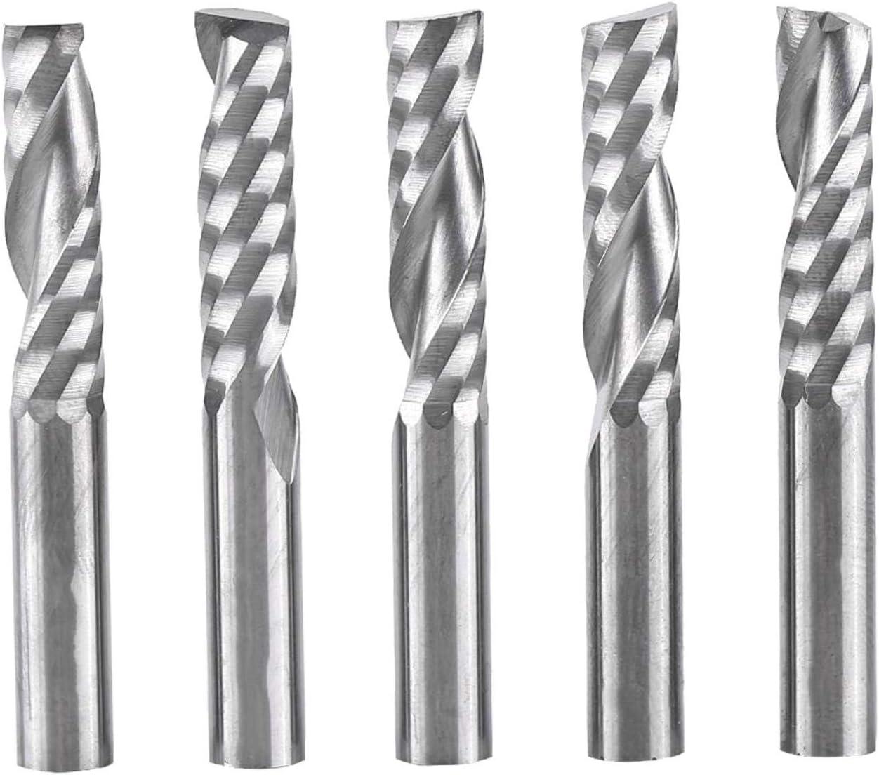 CLTYQ 5pcs Frese 6mm a Spirale taglierina fresatura CNC Bit Shank carburo di tungsteno Singole Flute End Mills
