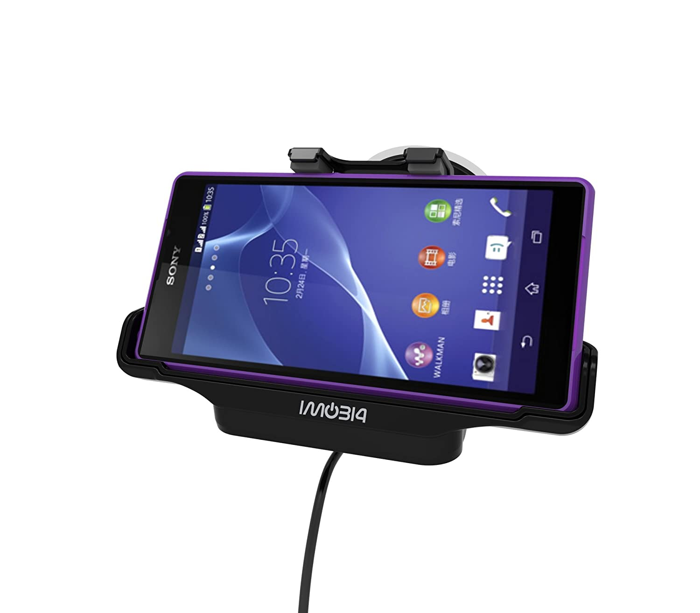 Amazon.com: VicTec coches Celular titular de montaje de la horquilla con el cargador para Sony Xperia Z2 / GPS: Electronics
