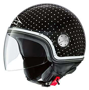 AXO Casco Subway, color Negro/Blanco, talla XS