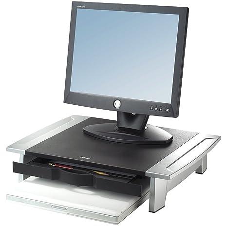 """Fellowes Office Suites - Soporte de monitor hasta 28"""", color gris"""