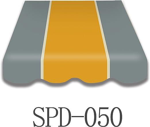 Toldo plástico spd050 Repuesto plástico Plus Faldón montado cosido ...