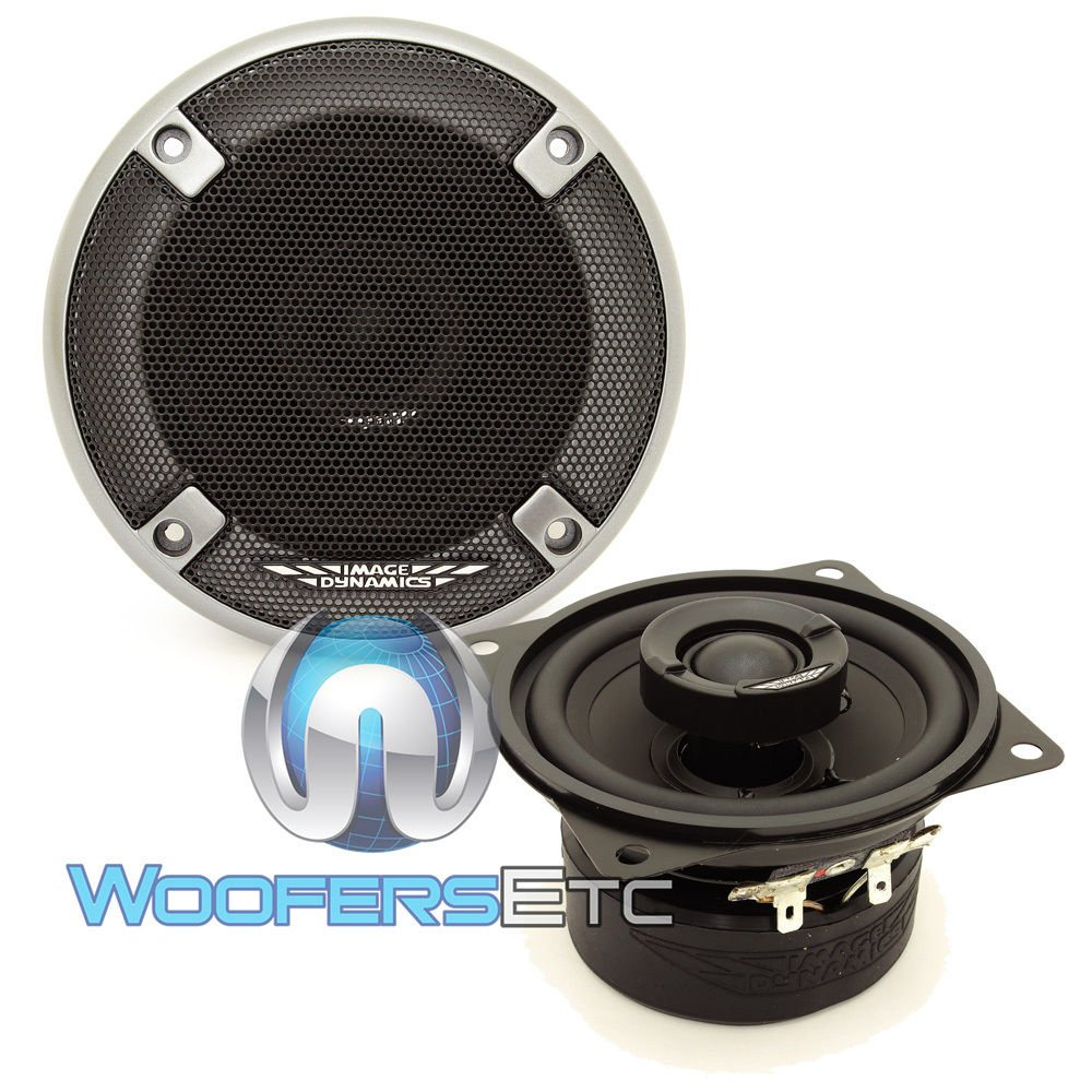 Image Dynamics ID4 50W RMS 4'' ID Series Full Range Coaxial System with 20mm Silk Tweeter - Pair