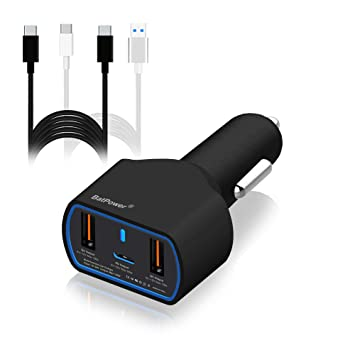 BatPower UL Listed 120W 90W PD USB-C Car Charger for HP Spectre X360 Surface Book 2 Apple Dell XPS Razer Blade Stealth Lenovo Asus Acer Laptop PD Car ...