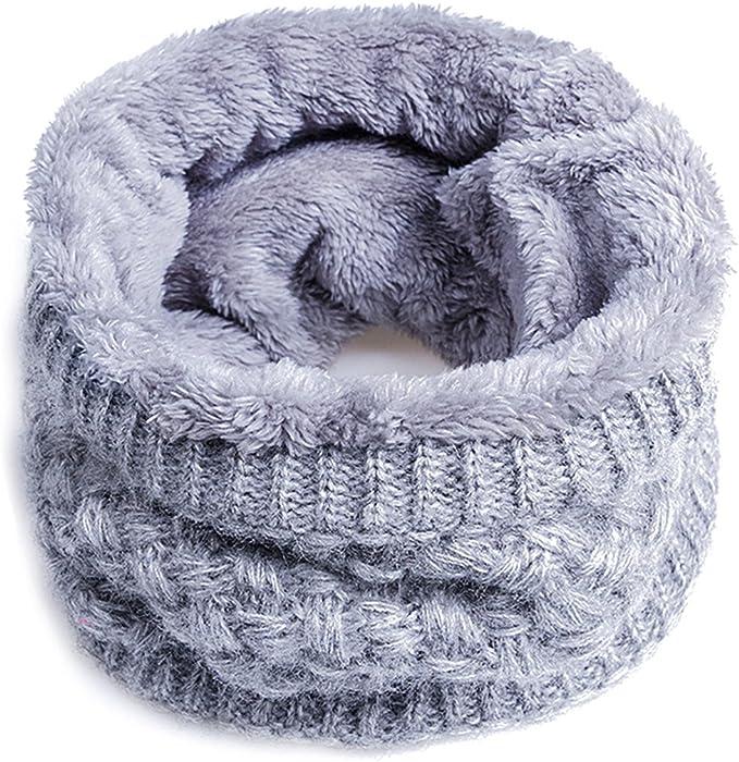 Unisex Fleece Loop Schal Winter Warm Halstuch Rundschal Halswärmer Schlauchschal