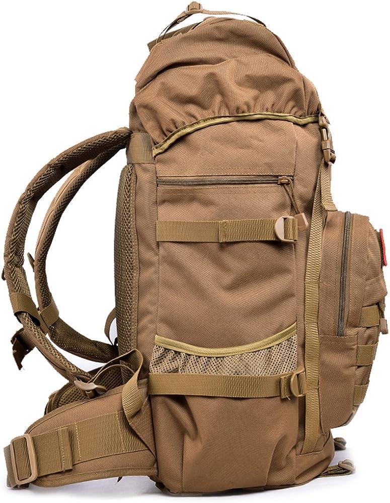 Mochila T/áctica 50L Mochila Caminar Hombre Mochila Militar Asalto Molle para Deportes al Aire Libre Camping Caza Monta/ñismo Viaje Camuflaje de la Selva
