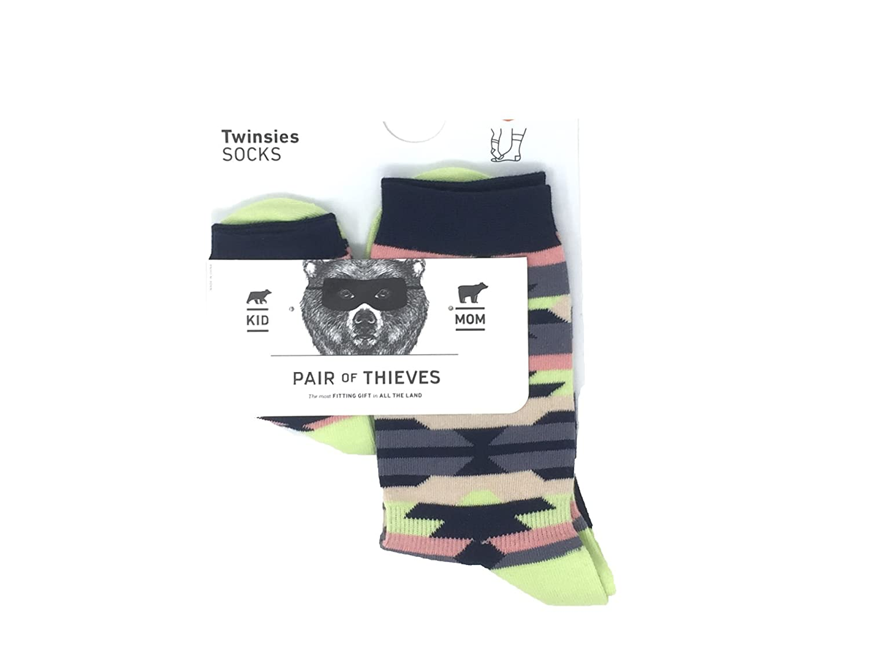Kid /& Mom Large 9-12 Years, Morticia /& Wednesday Pair of Thieves Dad or Mom /& Kid Twinsies 2 Pack Gift Socks