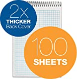 Tops Docket Gold Spiral Steno Book, Quadrille Rule, 6 x 9 Inches, White, 100 Sheets per Pad