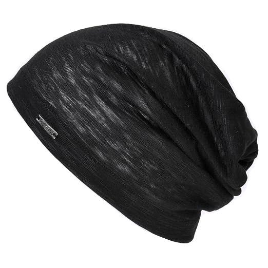 db51ecd93ea CHARM Summer Beanie for Men and Women - Slouchy Lightweight Chemo Cotton  Fashion Hat Black