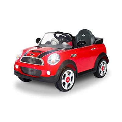 Rollplay 6V Mini Cooper Kid's Ride-On Car - for Boys & Girls Ages 3 & Up - Battery-Powered Ride On Toy - Red: Toys & Games
