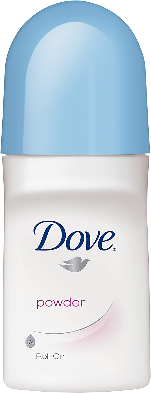Dove Roll-On Deodorant & Anti-Perspirant, Powder-2.5 oz, 2 pk