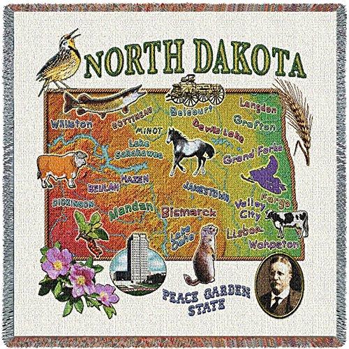 Grand Forks North Dakota (Pure Country Inc. North Dakota State Small Blanket Tapestry Throw)
