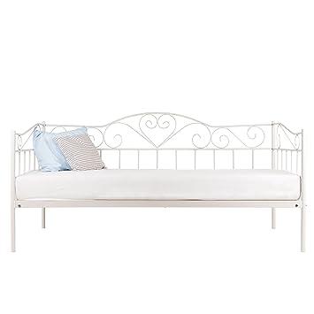 Einzelbett weiß metall  Metallbett 90x200 mit Matratze EOS/LUNA Einzelbett Jugendzimmer ...