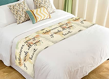 Amazon Com Custom Adventure Bed Runner Old Style World Map With
