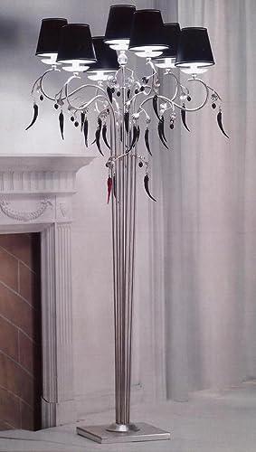 tredici Diseño Murano cristal lámpara de pie PARIS en hojas ...