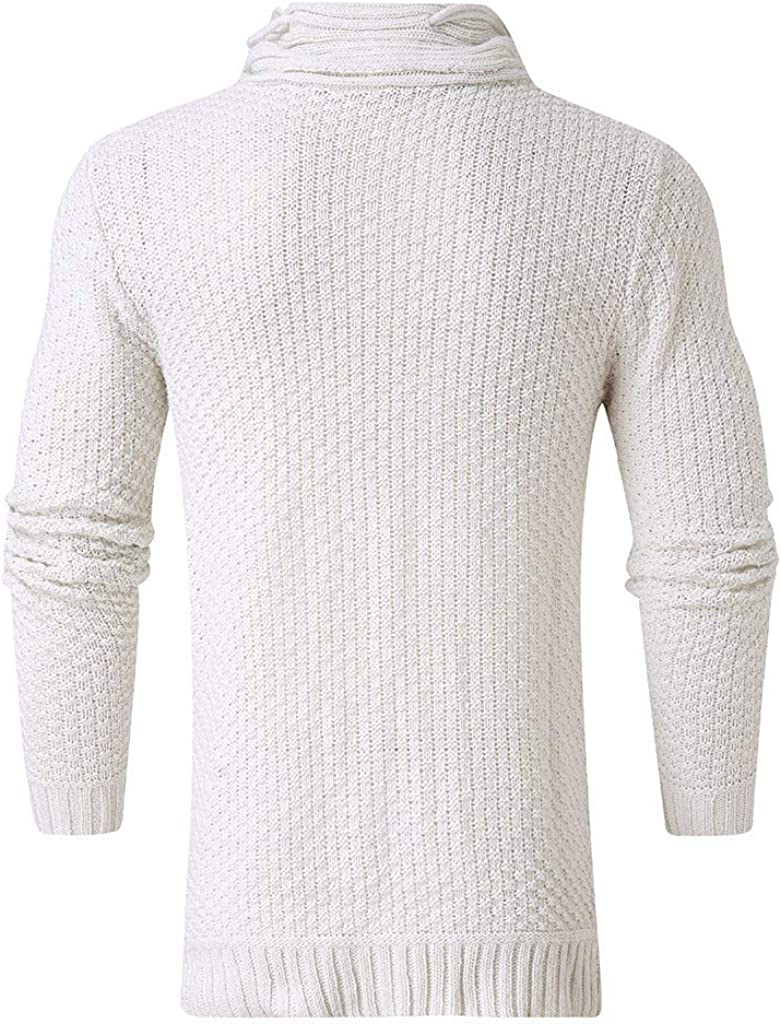 Ohbiger Men/'s Knitted Pullover Sweater Hoodie Jacket Sweatshirt Casual Long Sleeve Slim Fit