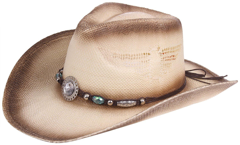 Enimay Western Outback Cowboy Hat Mens Womens Style Straw Felt Canvas
