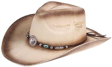 c3b2f2f3f20e2 Enimay Western Outback Cowboy Hat Men s Women s Style Straw Felt Canvas