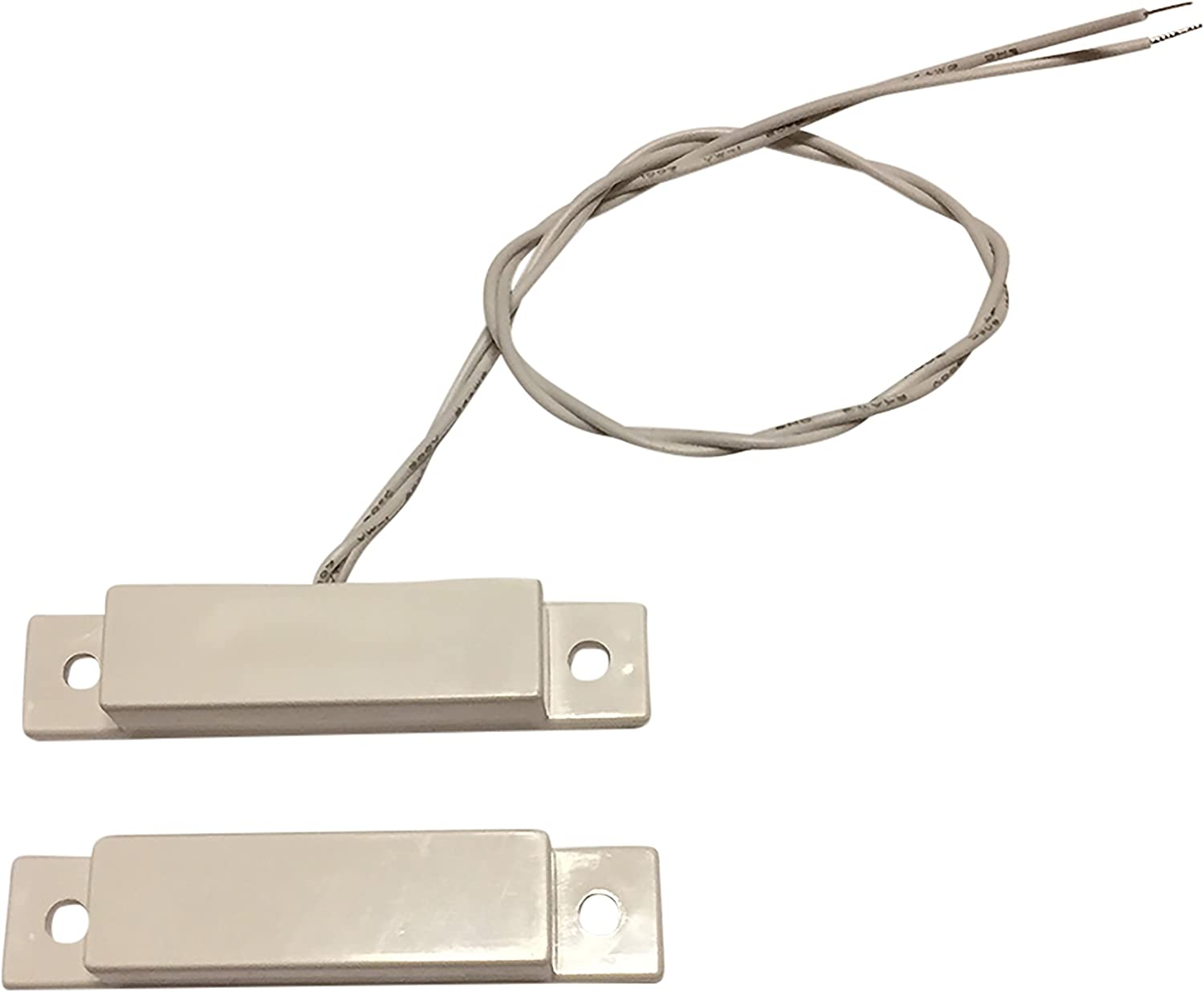 """Amazon.com : 1 pcs Wired White Door Contacts Surface Mount NC Security  Alarm Door Window Sensors.These ¾"""" Door Contact Position switches (DCS)  Work with All Access Control and Burglar Alarm Systems : 