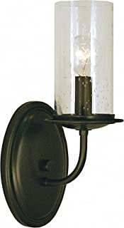 product image for Framburg 1041 MBlack 1-Light Compass Sconce, Matte Bronze