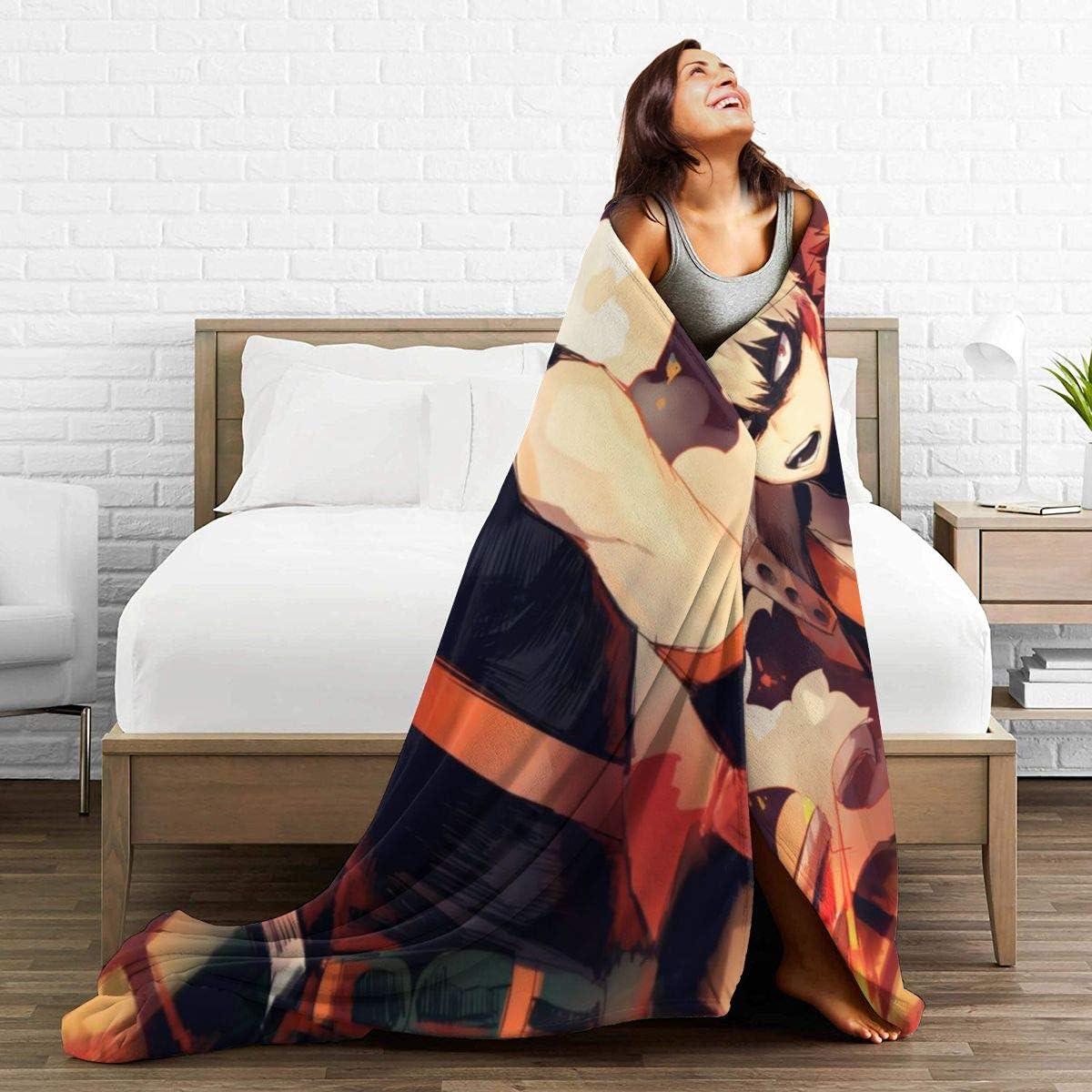 "Details about  /59/""X79/'/' Anime Dark Stalkers Morrigan Flannel Bed Warm Throw Blanket Otaku#R1818"