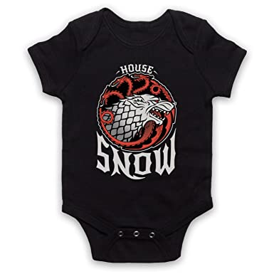 Game Of Thrones House Snow Baby Grow Amazon Co Uk Clothing