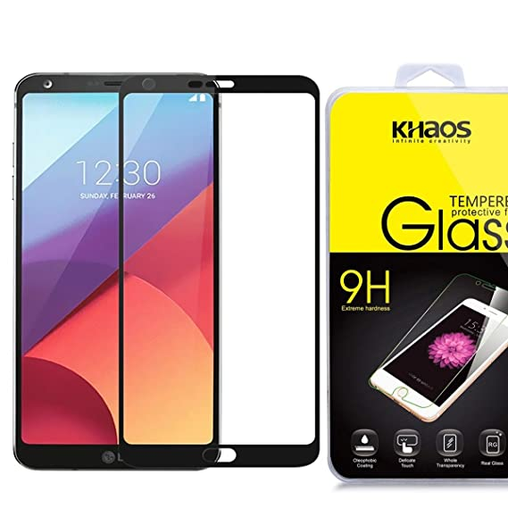 new arrivals 6a373 dbac0 Amazon.com: LG G6 / LGG6 Full Cover Tempered Glass Screen Protector ...