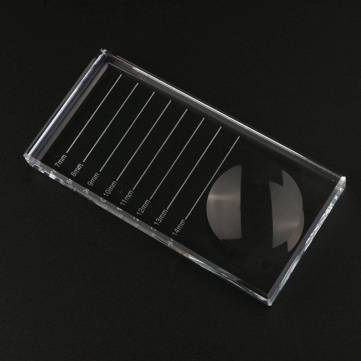 OULII Portavasos de plataforma de pegamento adhesivo para pestañas extensiones ojos cejas pestañas plantilla tarjeta: Amazon.es: Bricolaje y herramientas