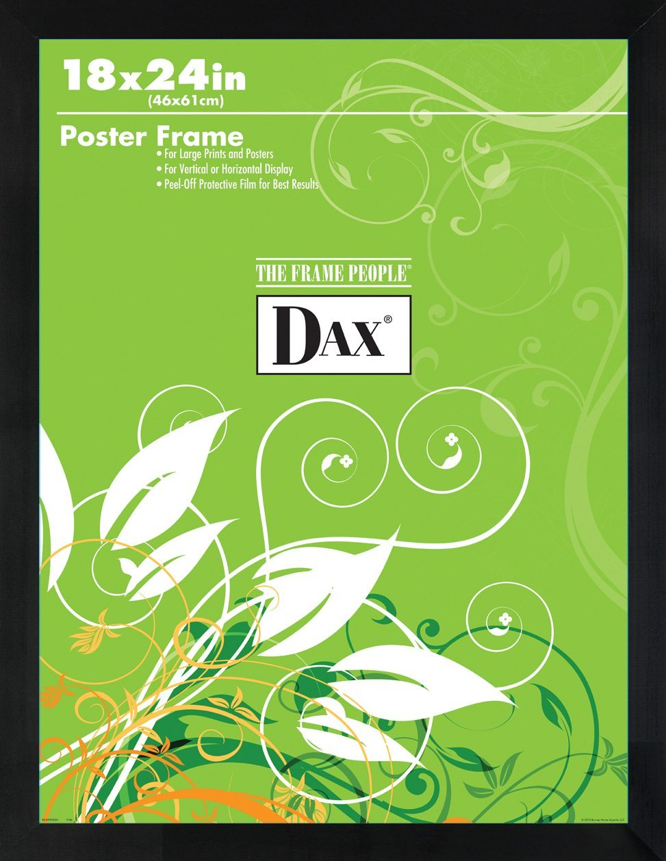 Amazon.com: DAX Flat Face Wood Poster Frame, Clear Plastic Window ...