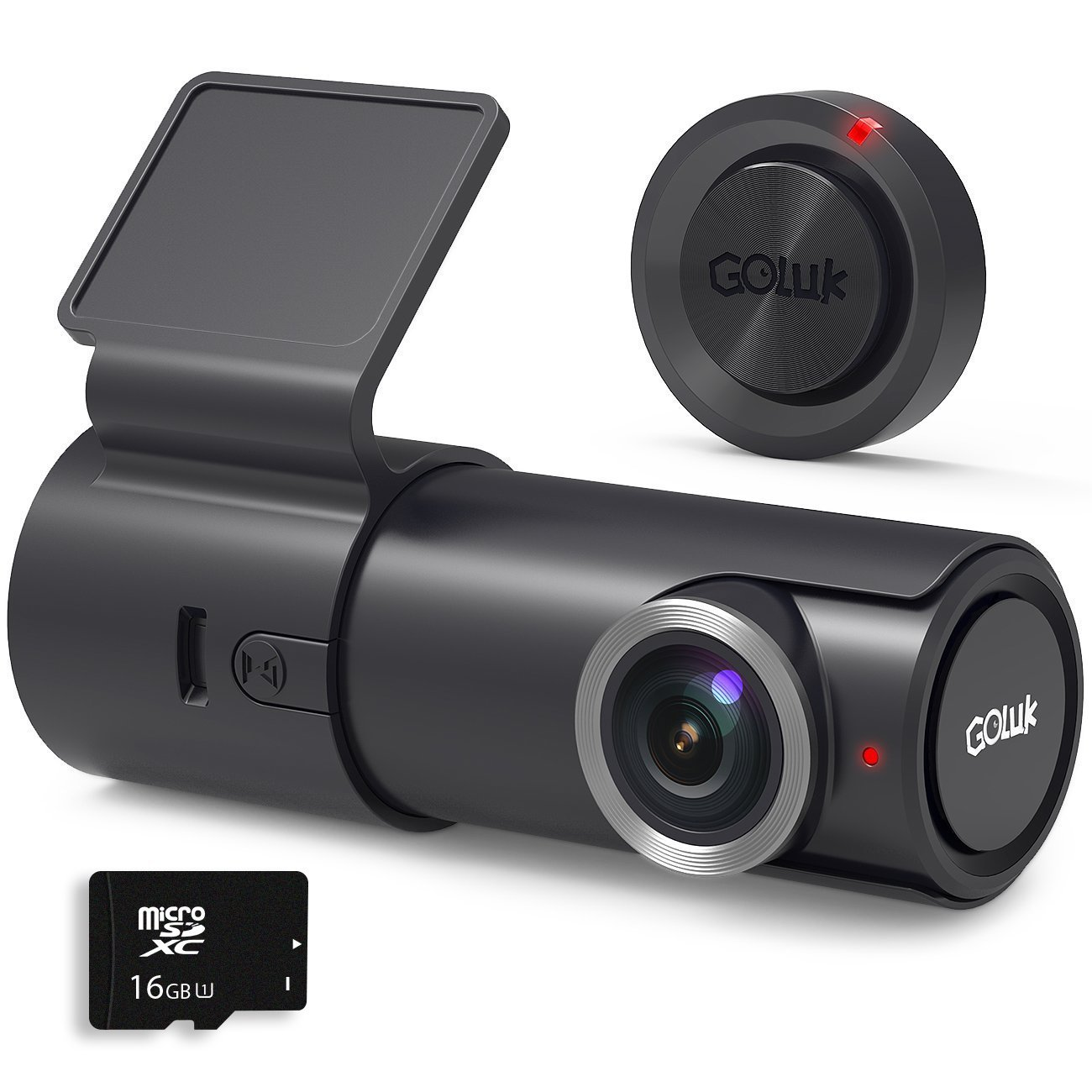 Goluk T2 FHD 1080P 152° WDR Car Dash Cam with G-sensor for Real Time Video Sharing, Motion Detection, Traffic Accident Disputes, Parking Monitor Loop Recording
