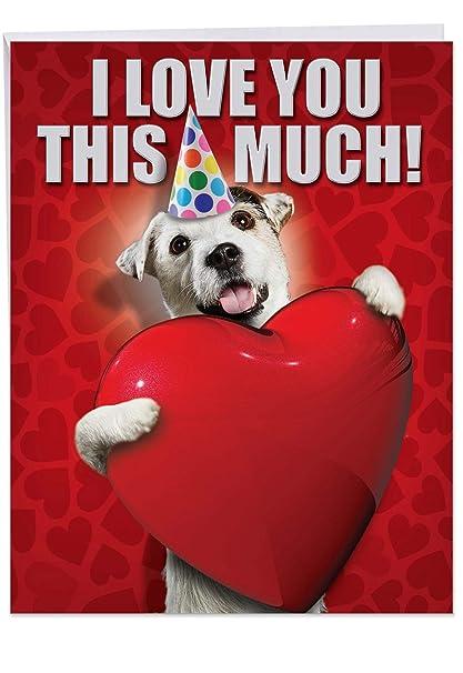 Big Dog Card For Happy Birthday Celebrations 85 X 11 Inch