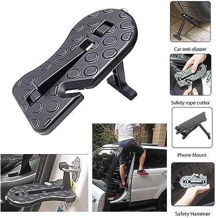 FWQAZ Vehicle Door Step Vehicle – Escalera para baca Hooked on de on U Moldeada Soporte increíble Heavy Duty Vehículo Acceder a Car Rooftop Safety Martillo: Amazon.es: Hogar