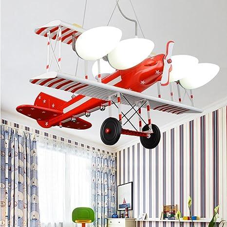 Moderna/Creative/rojo Avión/Diseño/LED/lámpara colgante ...