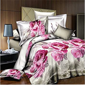 Home Textilepink Flower Comforter Set Queen Size Sexy Roses Marilyn Monroe Bedding Sets Marilyn