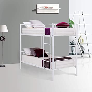 Amazon Com Mecor Twin Over Twin Bunk Beds With Removable Ladder