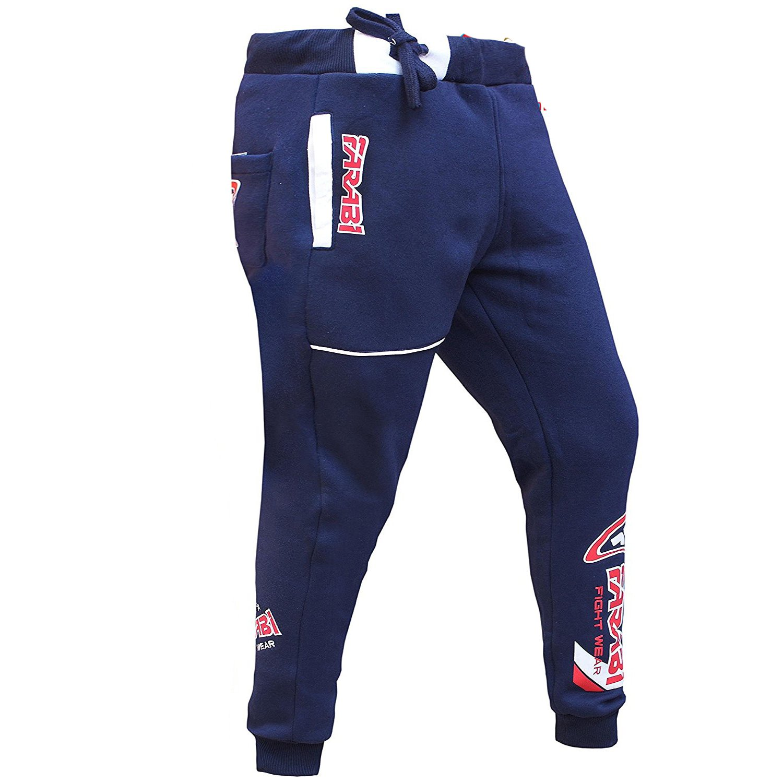 Farabi Fleece Bottom Trouser Jogging Sports Casual Pants Training Navy Blue
