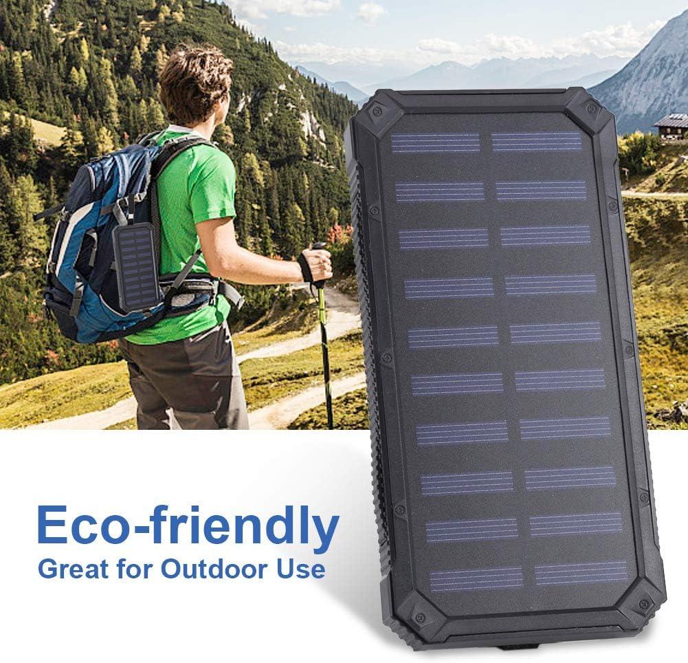 Semme Cargador de bater/ía Externo de la energ/ía Solar port/átil del Banco de la energ/ía 20000mAh con la luz de 6pcs LED 02
