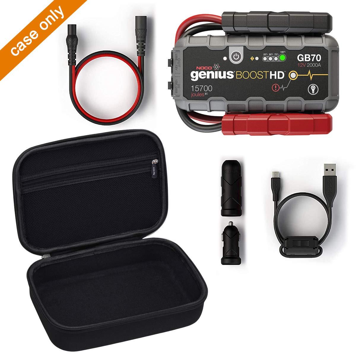 Aproca Hart Schutz H/ülle Reise Tragen Etui Tasche f/ür NOCO Genius Boost HD GB70 2000A Ultra-Sicheres 12V-Lithium-Starthilfeger/ät Black-New