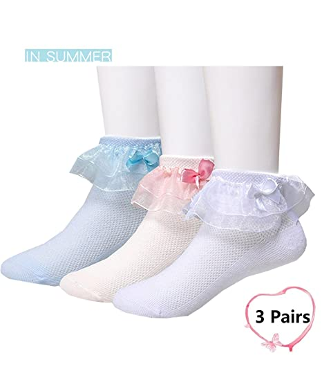 9182e2951 Baby Girls New Both Ruffle Layer Princess Cotton Socks(0m-10y)