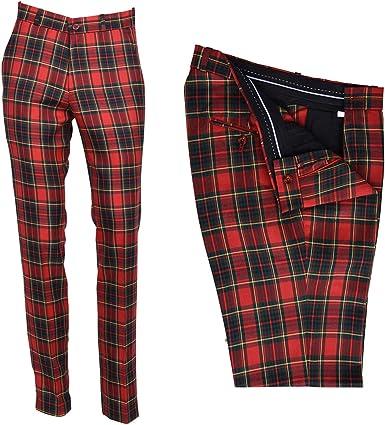 Sta Press Pantalones De Golf Para Hombre Diseno Clasico Color Rojo Negro Verde 42 Pulgadas U K Cintura De 106 Cm Amazon Es Ropa Y Accesorios