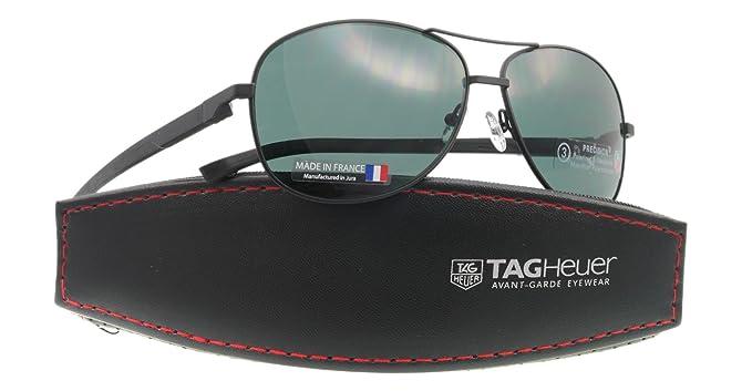 Amazon.com: Tag Heuer anteojos de sol TH 0884 Negro 311 ...
