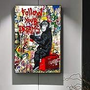 WPFZH Lienzo Pintura Decorativa SIGA Sus sueños Street Wall Graffiti Art Canvas Paintings Abstract Pop Art Canvas Prints For