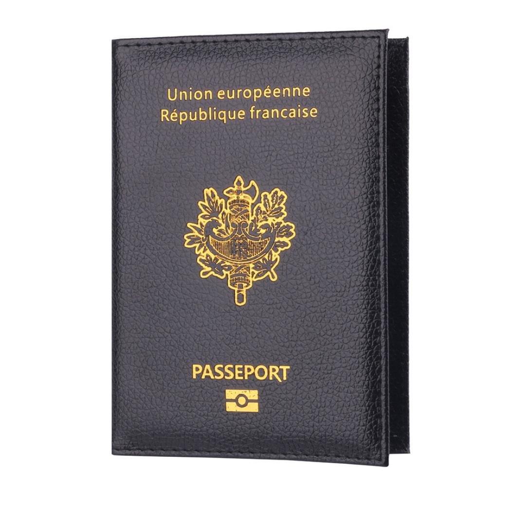 zycShang Porte-Passeport Housse Passeport Titulaire Protecteur Portefeuille Carte De Visite Souple Passeport Couverture