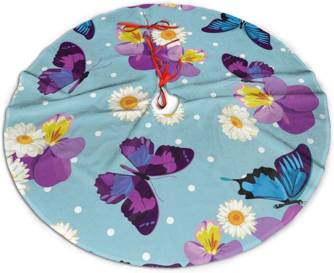 Pengyong Falda para árbol de Navidad, diseño de Flores, Color ...