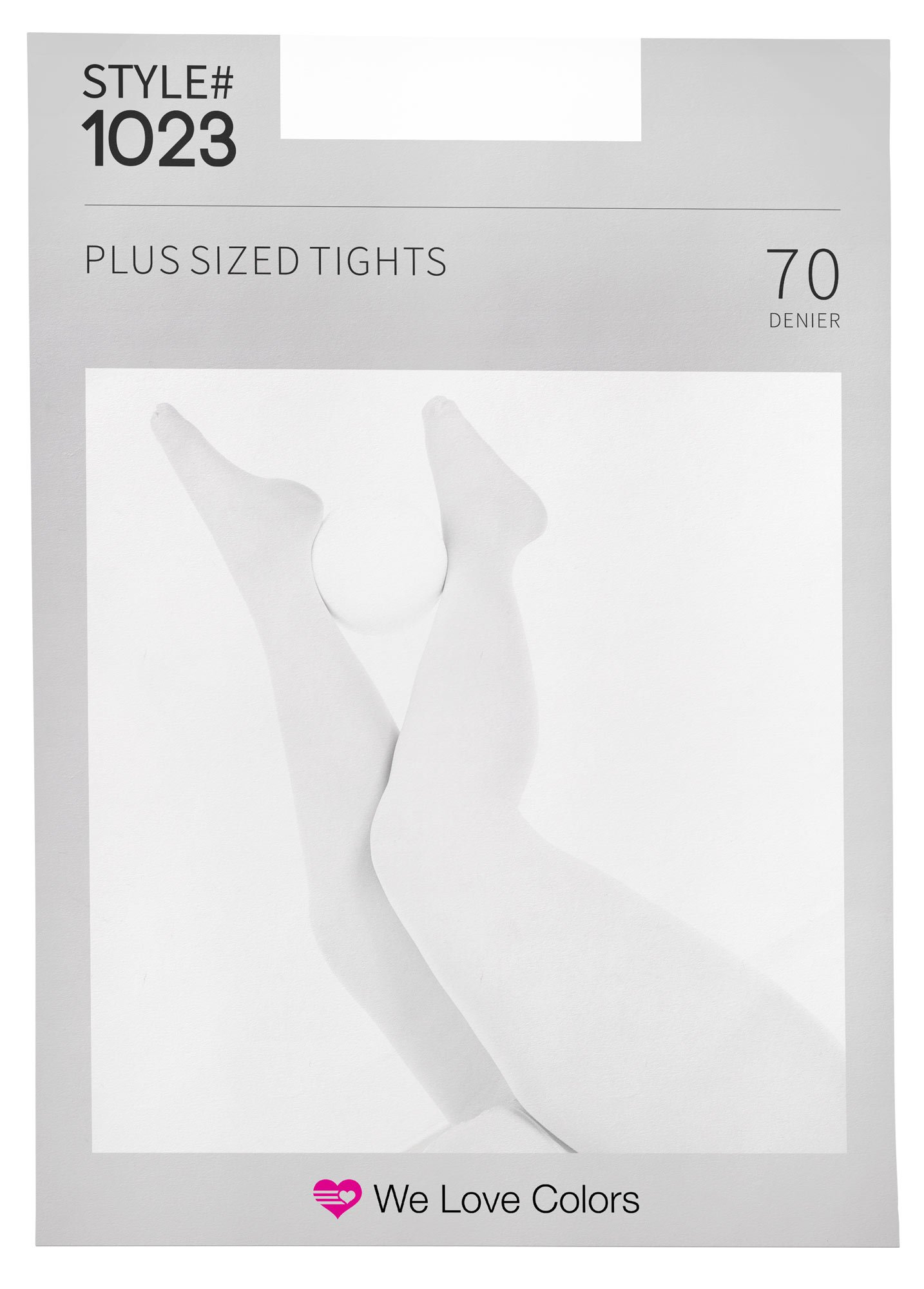 Nylon/Spandex Plus Size Tights - White - 3X