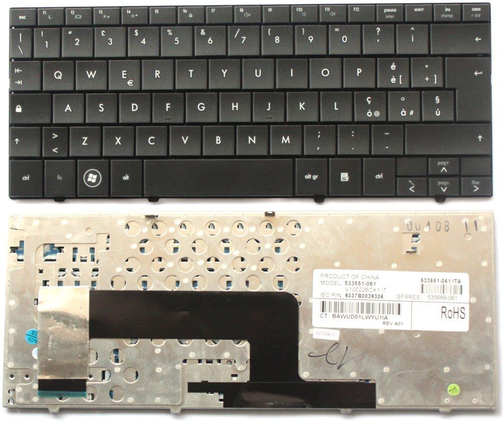 Teclado italiana Nuova para ordenador portátil HP Mini 110 - 1000 CQ10 - 100 serie negra: Amazon.es: Electrónica